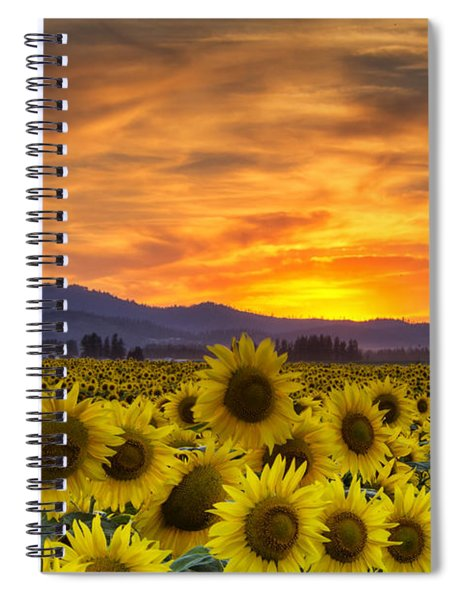 Sunflower Sunset Spiral Notebook
