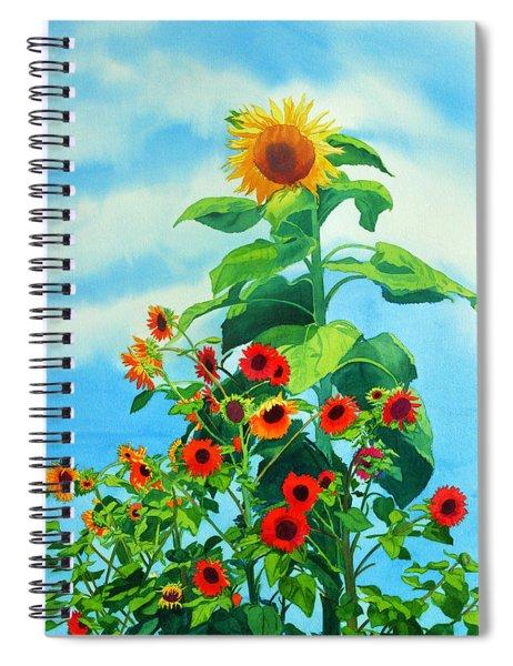 Sunflowers 2014 Spiral Notebook