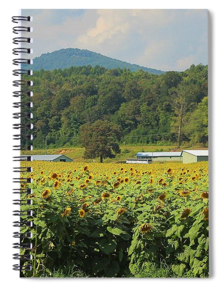 Sunflowers And Mountain View 2 Spiral Notebook
