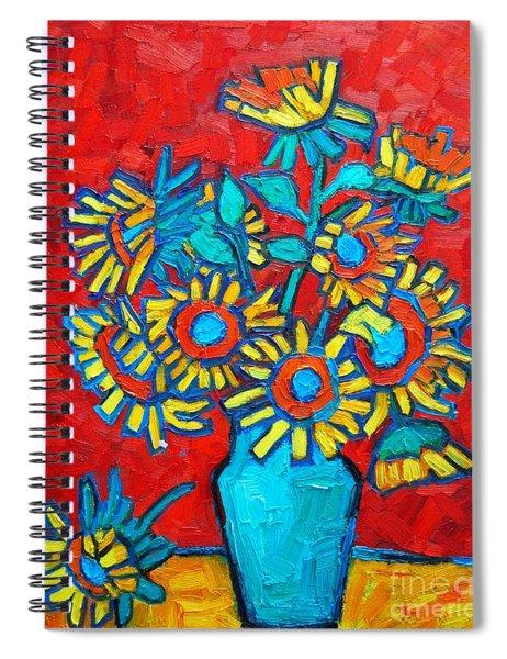 Sunflowers Bouquet Spiral Notebook