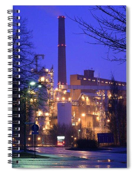 Sunila Pulp Mill By Rainy Night Spiral Notebook