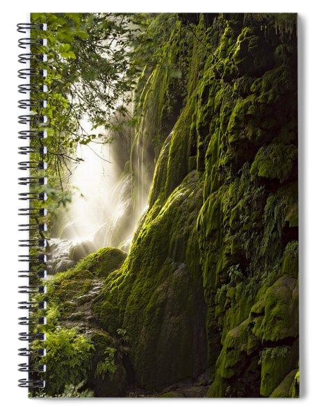 Gorman Falls Ray Of Light Spiral Notebook