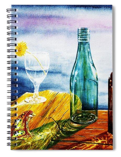 Sunlit Bottles Spiral Notebook