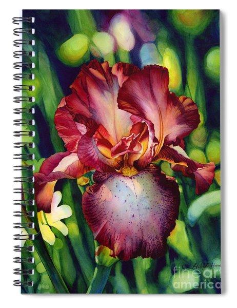Sunlit Iris Spiral Notebook