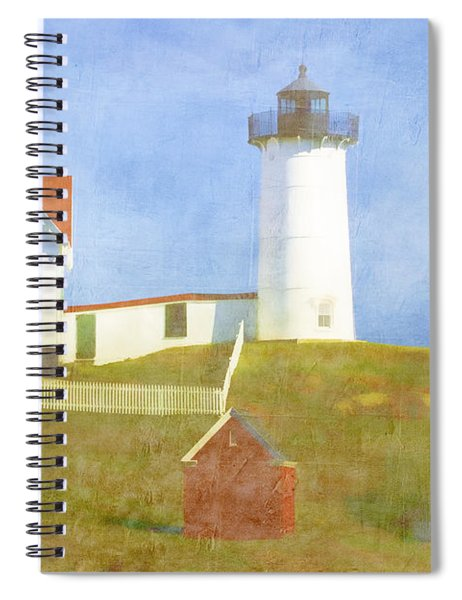 Sunny Day At Nubble Lighthouse Spiral Notebook