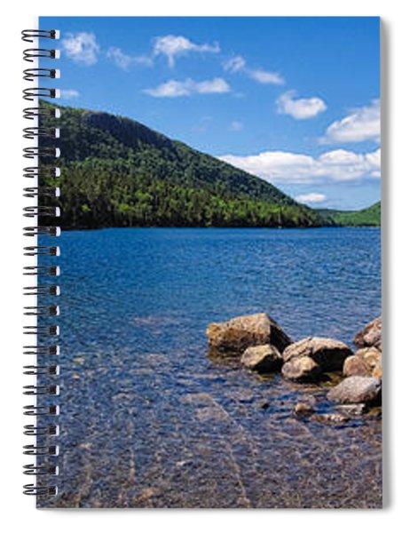 Sunny Day On Jordan Pond   Spiral Notebook