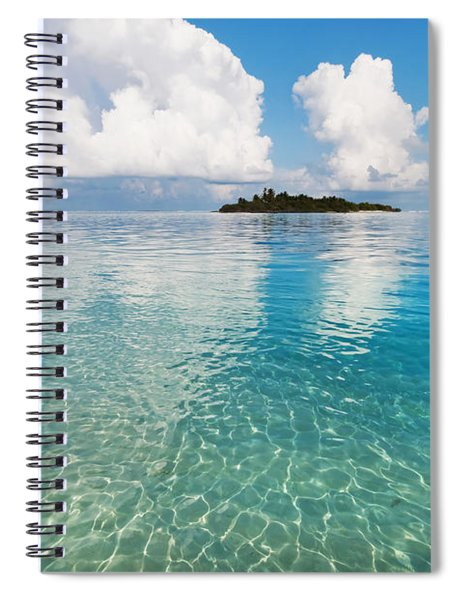 Sunny Invitation For  You. Maldives Spiral Notebook