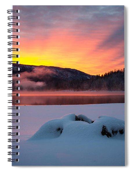 Sunrise At Bass Lake Spiral Notebook