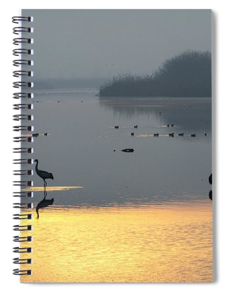 Sunrise Over The Hula Valley Israel 1 Spiral Notebook