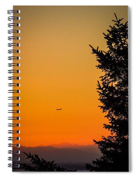 Sunrise Flight Departing Shannon Airport Spiral Notebook