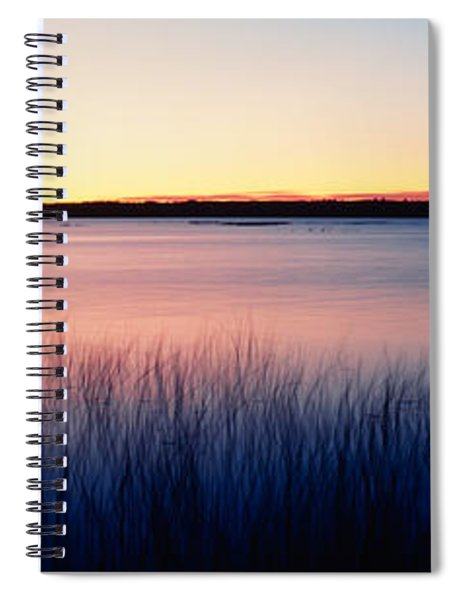 Sunrise Lake Michigan Wi Usa Spiral Notebook