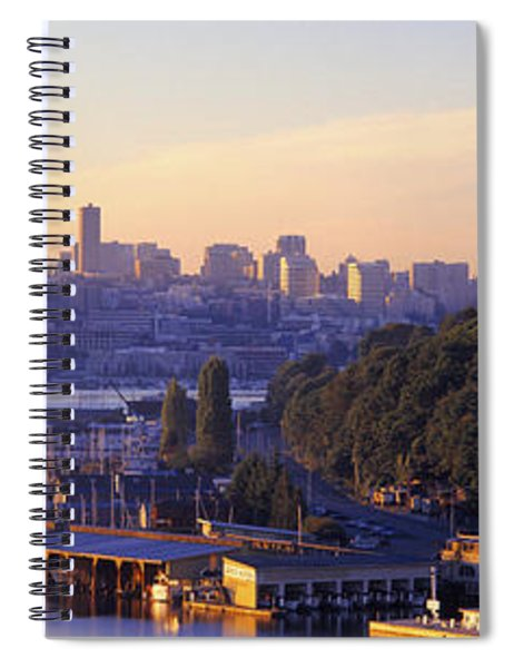 Sunrise, Lake Union, Seattle Spiral Notebook