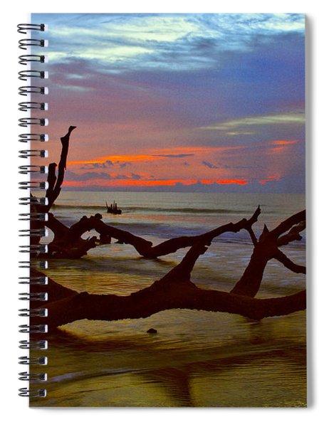 Sunrise On Bulls Island Spiral Notebook