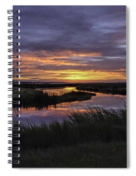 Sunrise On Lake Shelby Spiral Notebook