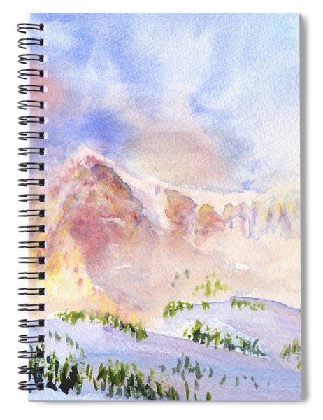 Sunrise On Mount Ogden Spiral Notebook