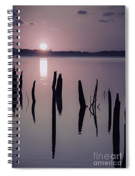 Sunrise Over Manasquan Reservoir Iv Spiral Notebook