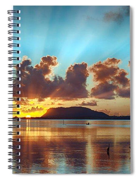 Sunrise Over Marine Corps Base Hawaii Spiral Notebook