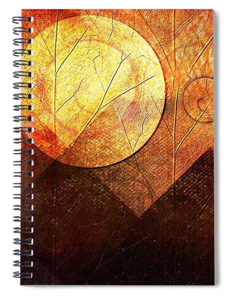 Sunrise Over Mountain Range Spiral Notebook