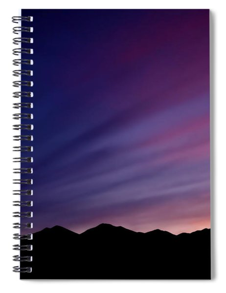 Sunrise Over The Mountains Spiral Notebook