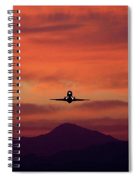 Sunrise Takeoff Spiral Notebook