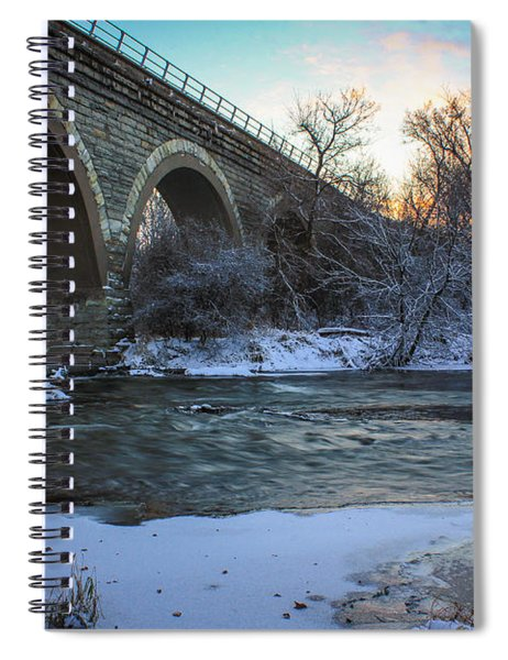 Sunrise Under The Bridge Spiral Notebook