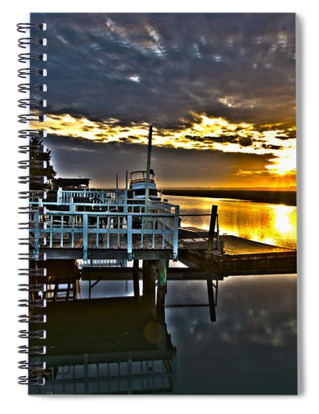 Sunset Across The Inlet Spiral Notebook