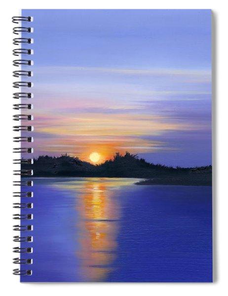 Sunset Across The River Spiral Notebook
