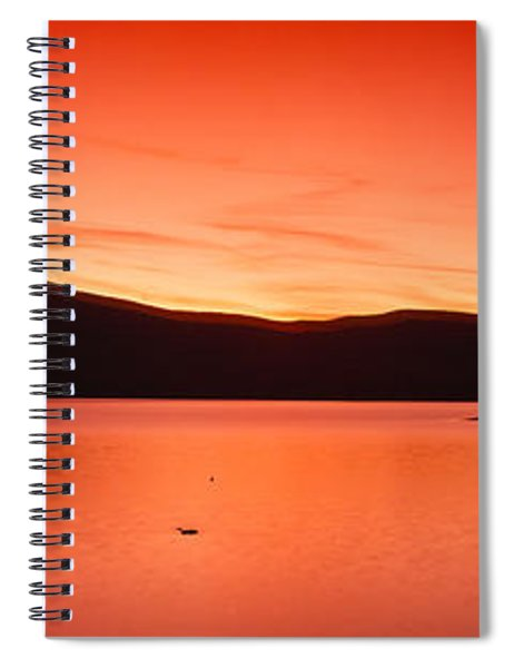 Sunset At Ashokan Reservoir, Catskill Spiral Notebook