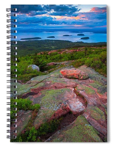 Sunset At Cadillac Mountain Spiral Notebook