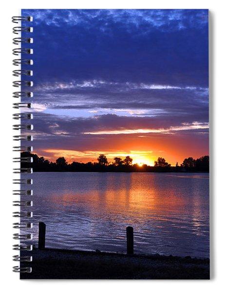 Sunset At Creve Coeur Park Spiral Notebook