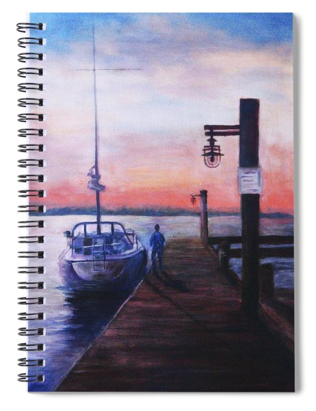 Sunset At Rocky Point Spiral Notebook