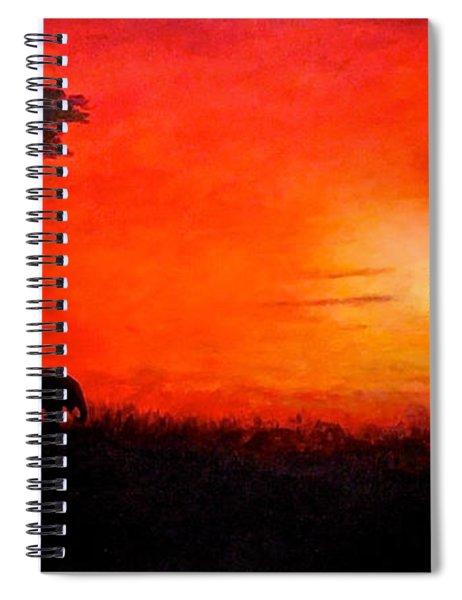 Sunset At Serengeti Spiral Notebook