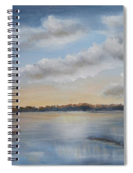 Sunset At Sparta Lake New Jersey Spiral Notebook