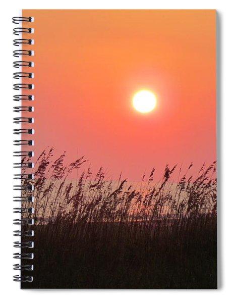 Sunset At The Beach Spiral Notebook