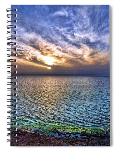 Sunset At The Cliff Beach Spiral Notebook