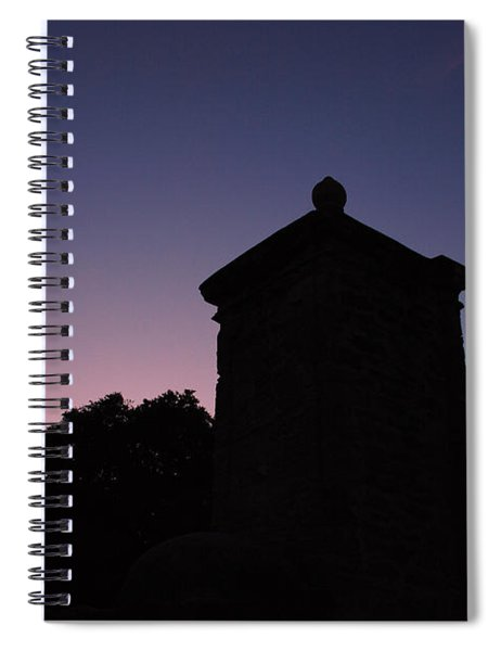 Sunset At The Gate Spiral Notebook