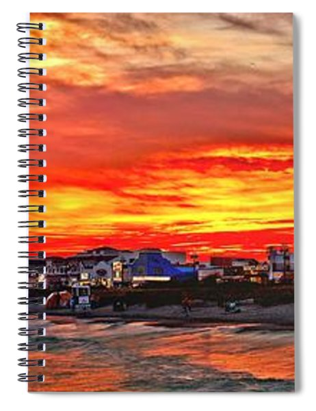 Sunset At The Music Pier Spiral Notebook