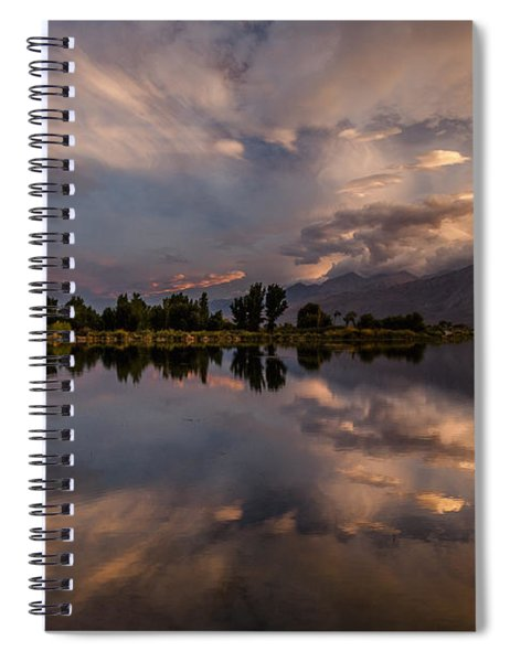 Sunset At The Pond Spiral Notebook