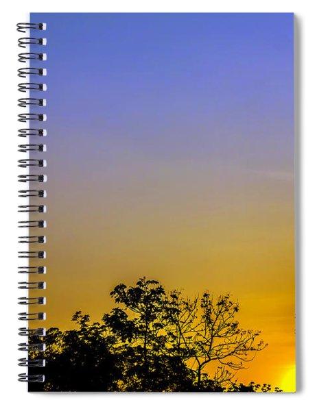 Sunset Behind Trees Spiral Notebook