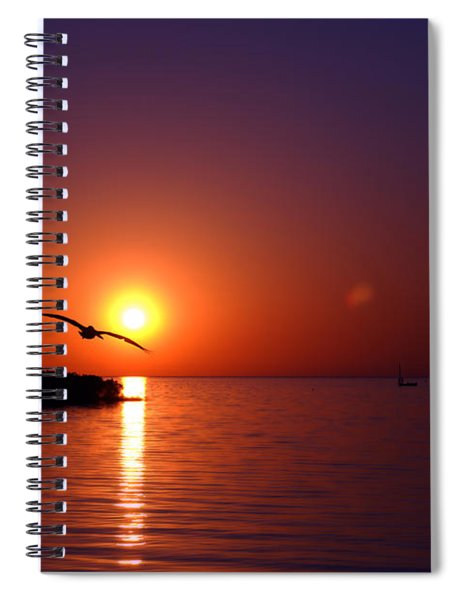 Sunset Blue Spiral Notebook