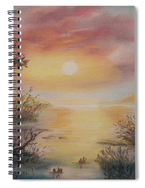 Sunset By The Lake Spiral Notebook