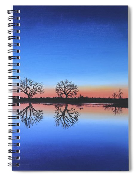 Sunset By The River Thames Spiral Notebook