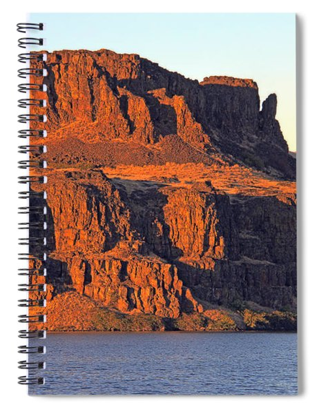 Sunset Cliffs At Horsethief  Spiral Notebook