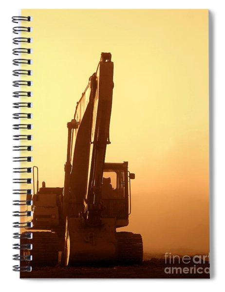 Sunset Excavator Spiral Notebook