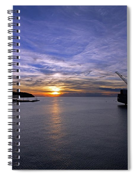 Sunset In Adriatic Spiral Notebook