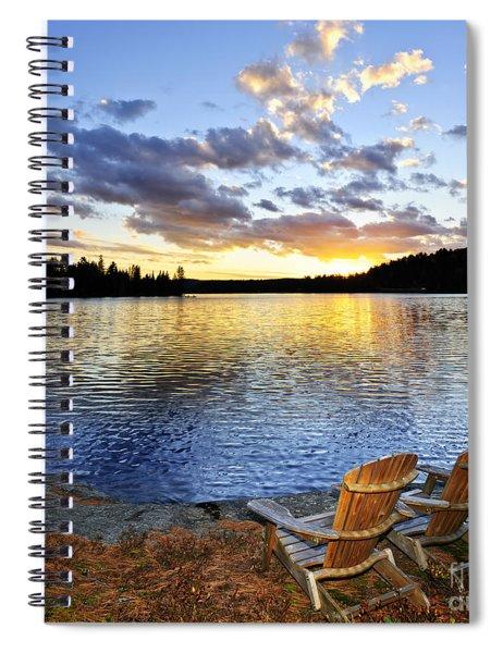 Sunset In Algonquin Park Spiral Notebook