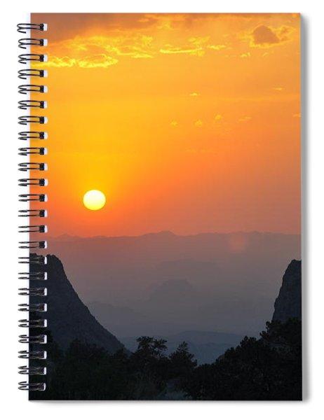 Sunset In Big Bend National Park Spiral Notebook