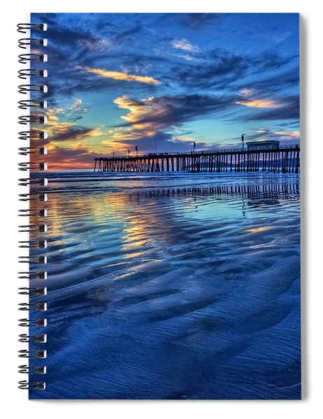 Sunset In Blue Spiral Notebook