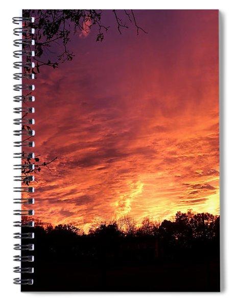 Sunset In Blue Ridge Foothills Spiral Notebook