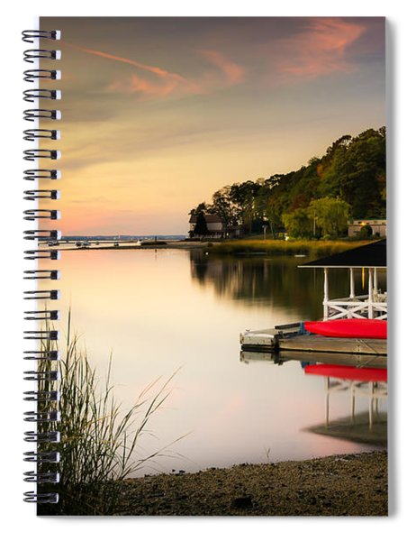 Sunset In Centerport Spiral Notebook